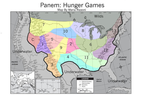 Hunger Games: A Map of the Fictional Panem | History and Social Studies Education | Scoop.it