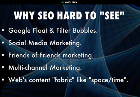 Why New SEO So Hard To SEE & How Thousands See The Invisible Giant. You? | Ecom Revolution | Scoop.it