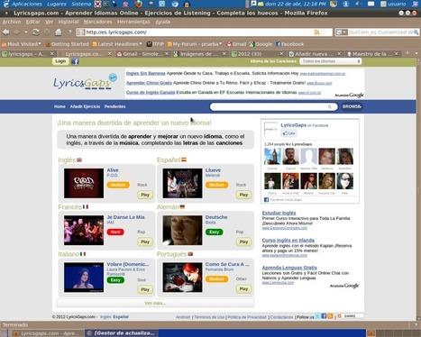 Aprende idiomas con música gracias a Lyricsgaps   ICT hints and tips for the EFL classroom   Scoop.it