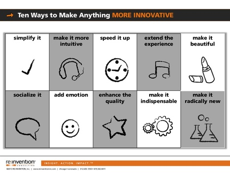10 Ways to Make Anything More Innovative | Building Innovation Capital | Scoop.it