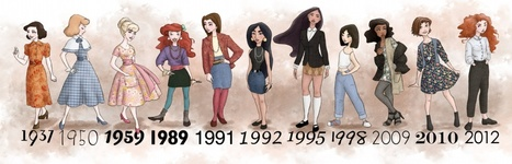 Disney Princesses Dressed in the Fashion of Their Times | All Geeks | Scoop.it