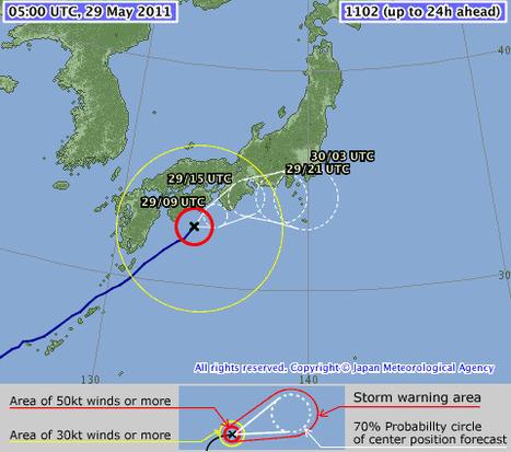 Japan Meteorological Agency   Tropical Cyclone Information   Regarder le ciel   Scoop.it