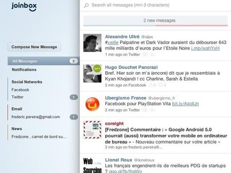 Gérer Twitter, Facebook et sa boite mail depuis un seul service avec Joinbox | Pratique et Twitter | Scoop.it