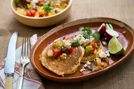 Fresh Corn Griddle Cakes With Spicy Salsa Recipe   ♨ Family & Food ♨   Scoop.it