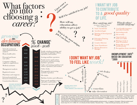 What factors go into choosing a career? | Infographics for English class | Scoop.it