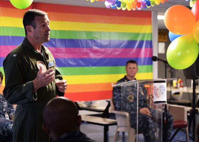 Navy celebrates 2017 LGBT pride month