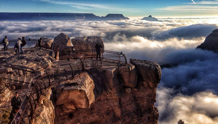 'Cloud waterfalls' cascade across the Grand Canyon   EARTHCOVE - a place for peaceful interplanetary & interspecies relations   Scoop.it