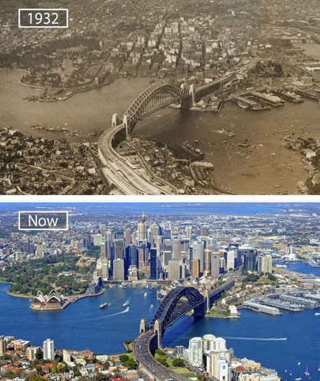13 Great Cities Then and Now | Old Pics Archive | Page 3 | HG Sempai | Scoop.it
