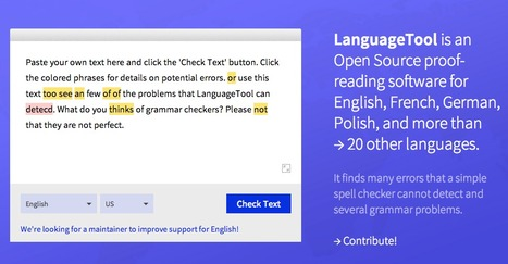 LanguageTool Style and Grammar Check | Τάξη 2.0 | Scoop.it