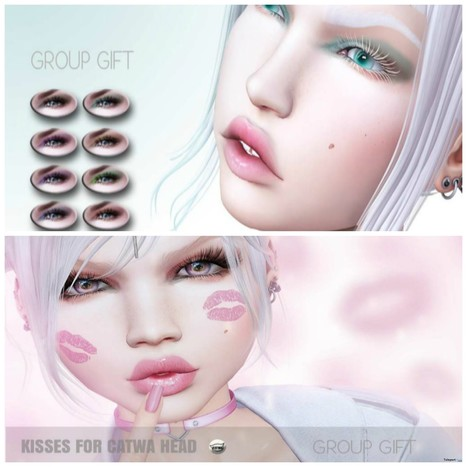 Mia Eyeshadows & Kisses Face Tattoo For Catwa Head Group Gift by LePunk | Teleport Hub - Second Life Freebies | Second Life Freebies | Scoop.it