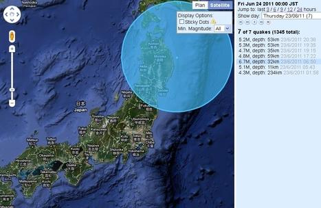 [séismes] Journée de jeudi très mouvementée | Japan Quake Map | Japon : séisme, tsunami & conséquences | Scoop.it