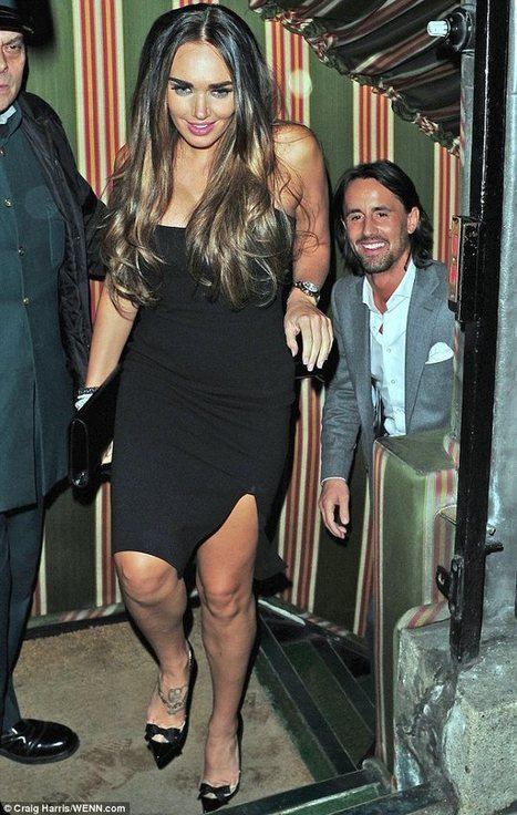 61682f383d9a Tamara Ecclestone parties in a black mini dress after shopping for wedding  gowns