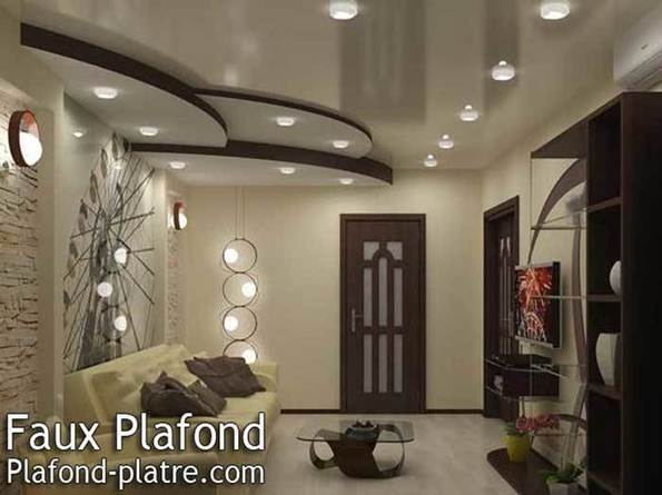 Decoration Platre Plafond Salon : Faux plafond en forme d un papillon scoop