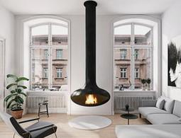 Ceiling Suspended Fireplace Zen Fire P