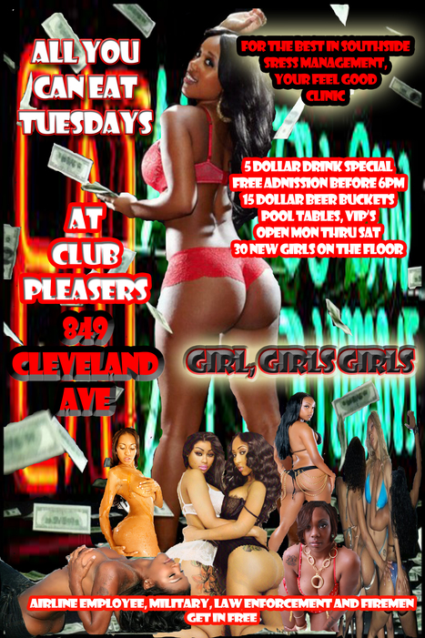 All You Can eat Tuesdays @Pleasers...... | GetAtMe | Scoop.it