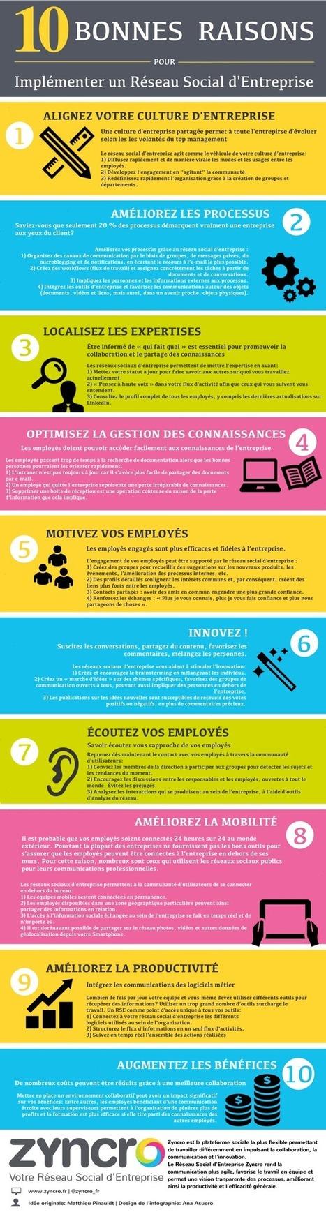 10 bonnes raisons pour implémenter un Réseau Social d'Entreprise I Augustin Guefif | le 2.0 à mon service | Scoop.it