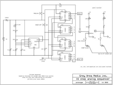 16 step sequencer schematic | DIY Music & e