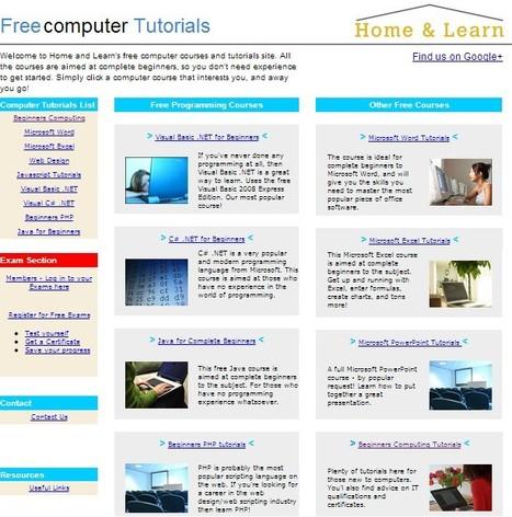 Free Beginners Computer Tutorials and Lessons | Free Tutorials in EN, FR, DE | Scoop.it