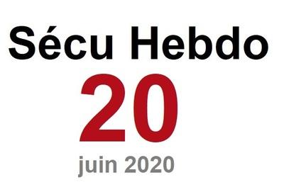 Sécu Hebdo 20 du 13 juin 2020