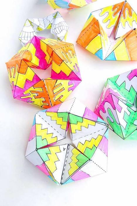 Paper Toys: Flextangles - Babble Dabble Do | A BRINCAR TAMBÉM SE APRENDE | Scoop.it