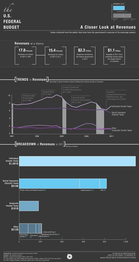 #CBO | Budget Infographic - Revenues | Commodities, Resource and Freedom | Scoop.it