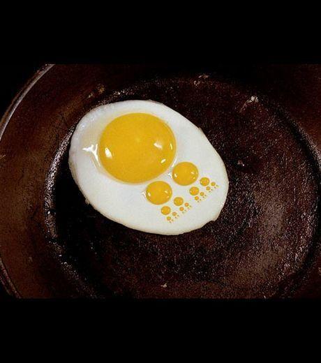 Photo : Cet oeuf au plat a un aspect digital/ ©Kevin Van Aelst | Jaclen 's photographie | Scoop.it