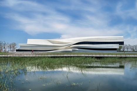 yinchuan's museum of contemporary art reflects the flow of china's yellow river - Designboom | Library learning spaces | Scoop.it