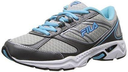 cbc34bf084 Fila Women's Flux Lite 2 Running Shoe, Metallic Silver/Bluefish/Dazzling  Blue, 7.5 M US