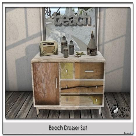 Beach Dresser Set Group Gift by Zen Creations | Teleport Hub - Second Life Freebies | Second Life Freebies | Scoop.it