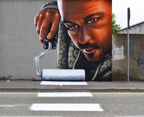 Quand le street-art s'intègre parfaitement à la ville…pour la rendre plus belle !   Reg'Art Metis   Scoop.it