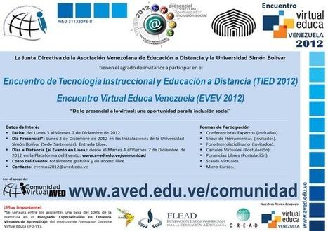 Invitación AVED - USB | Educación a Distancia y TIC | Scoop.it