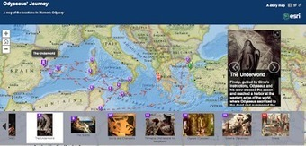 Free Technology for Teachers: An Interactive Map of The Odyssey | Edtech PK-12 | Scoop.it