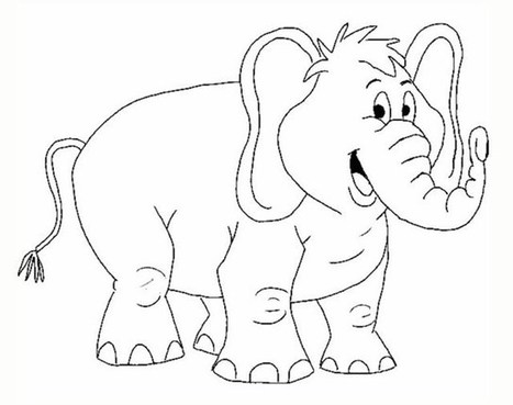 Black beauty 18 Elephant coloring pages | Free Printables | 369x467