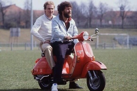 Paul Breitner on a Vespa | Vespa Stories | Scoop.it