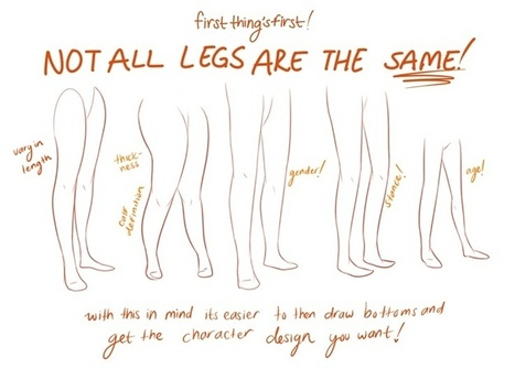 Leg Drawing Reference Guide | Drawing References and Resources | Scoop.it