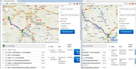 Collaborative Route Planner With SignalR Knock - Google trip planner map