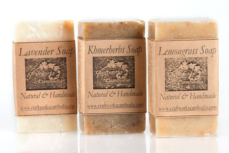 fair trade Cambodia. Natural Lemongrass handmade soaps, ethically handmade by disadvantaged home based workers. | Craftworks Cambodia. Fair trade Crafts | Scoop.it