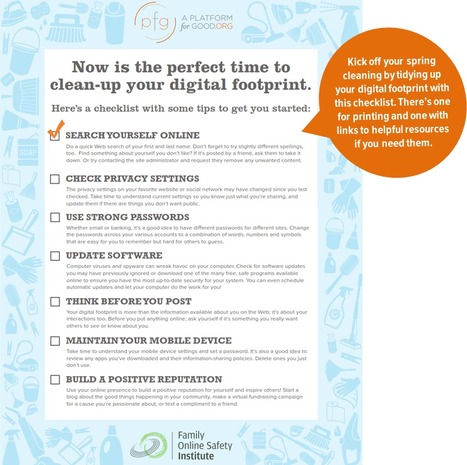 Clean Up Your Digital Footprint | e-Safety & e-Safeguarding | Scoop.it