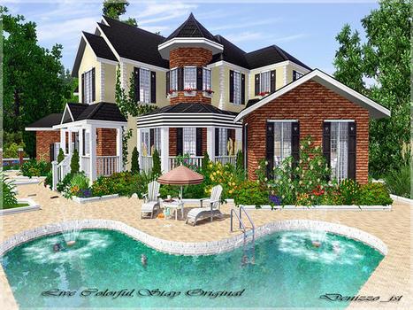 Les sims 3 maison de luxe construction ventana blog for Maison moderne de luxe sims 3