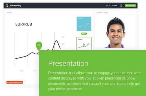 ClickMeeting - Webinar Software & Webinar Services | Digital Presentations in Education | Scoop.it