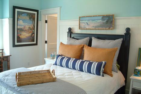 Fabric Focus: 6 Ways to Bring Ticking Stripe Fabric Home | Designing Interiors | Scoop.it