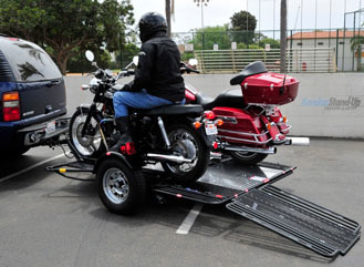 Introducing a True Ride On Motorcycle Trailer | Kendon | Ductalk Ducati News | Scoop.it