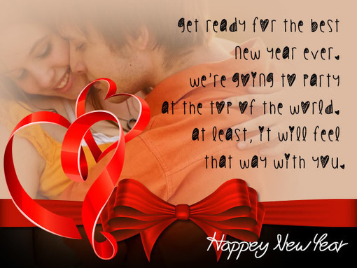 sweet happy new year love couple photos with ro
