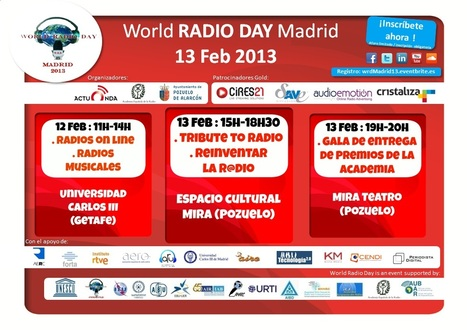 Celebramos y Reinventamos la Radio @ World Radio Day Madrid 2013 (13/02) | Radio 2.0 (Esp) | Scoop.it