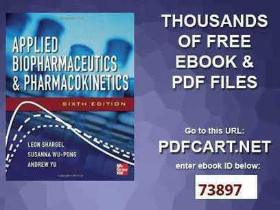 Biopharmaceutics pharmacokinetics shargel pdf d biopharmaceutics pharmacokinetics shargel pdf downloadgolkes fandeluxe Image collections