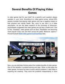 Video Game Truck, Page 6 | Scoop it