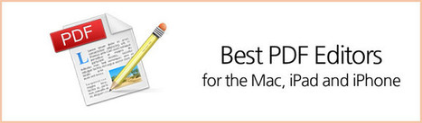 Best PDF Editors for Mac, iPad and iPhone to Manipulate PDF Files on Your Apple Device | GeekThis | Scoop.it