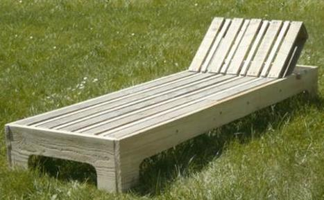 Fabriquer une chaise longue avec des palettes - Fabriquer une banquette avec des palettes ...