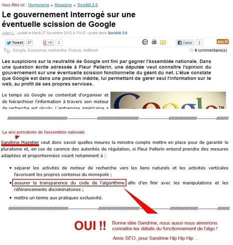 L'algo Google doit être connu de tous ! | SEO et visibilité web | Scoop.it