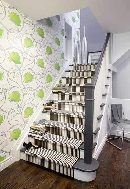 Idea para decorar una escalera moderna dec - Decorar escaleras interiores ...